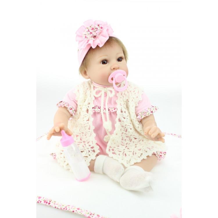 Boneca Bebê Real Reborn Karina c/ Acessórios.  Ref. 2989