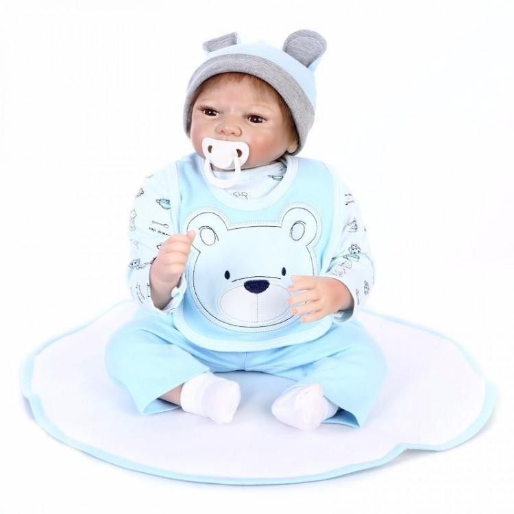 Boneca Bebê Real Reborn Pedro c/ acessórios.  Ref. 2771