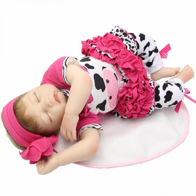 Bebê realista Reborn Fernandinha em Vinil silicone 55 cm. Ref. 9178