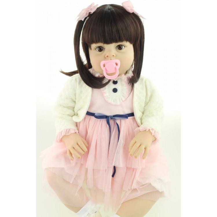 Boneca Bebê Real Reborn com 60cm.  Ref. 3487