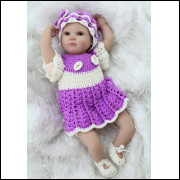 Bebê realista Reborn Bambina em Vinil silicone. Ref. 2929