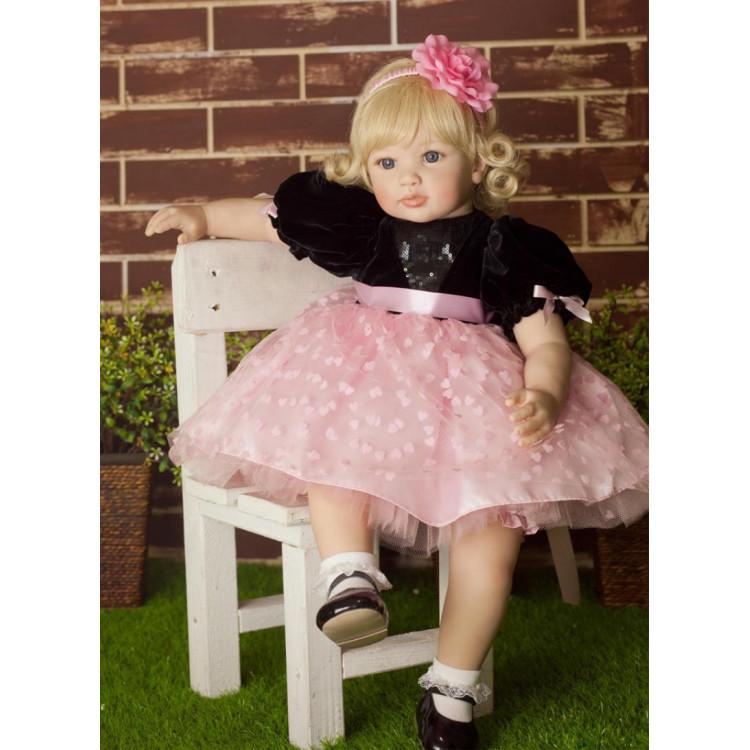 Boneca bebê realista Reborn ANNA em Vinil silicone. Ref. 3284
