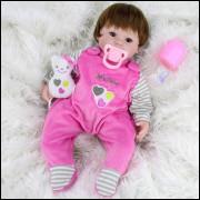 Bebê realista Reborn com acessórios. Ref. 30077