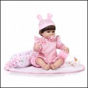Bebê realista Reborn com kit enxoval. REF15060365