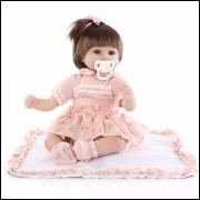 Bebê Reborn Pamela com kit acessórios. REF15060489
