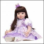 Boneca Bebê Real Reborn com 60cm.  Ref. 553487