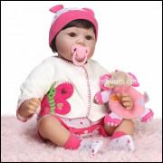 Boneca Bebê Real Reborn Sophia c/ acessórios. Ref. 870370