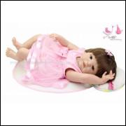 Bebê real reborn Keyla- Realista em Vinil completo com 55 cm.  Ref. 10839B