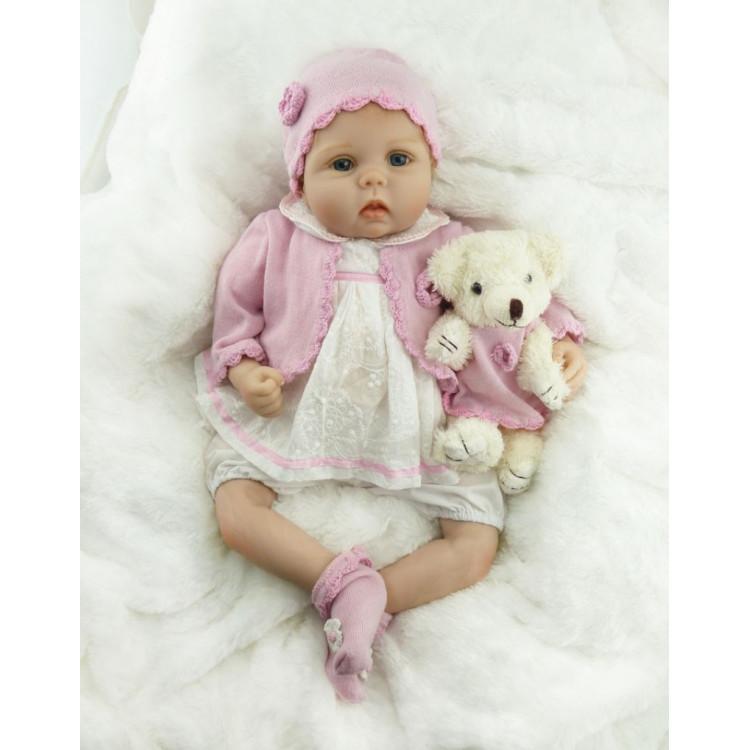 Bebê realista Reborn em Vinil silicone 55 cm. Ref. 4725988